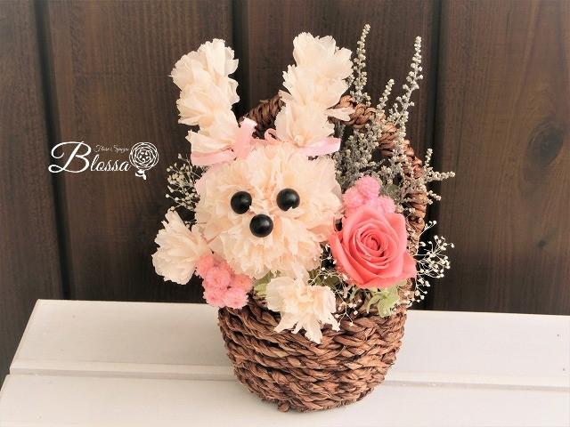 母の日 父の日 両親贈呈 『ウサギちゃん Sサイズ』 ウサギ カーネーション