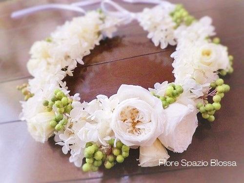 プリザ HR-09 ふんわり花冠★ホワイト★