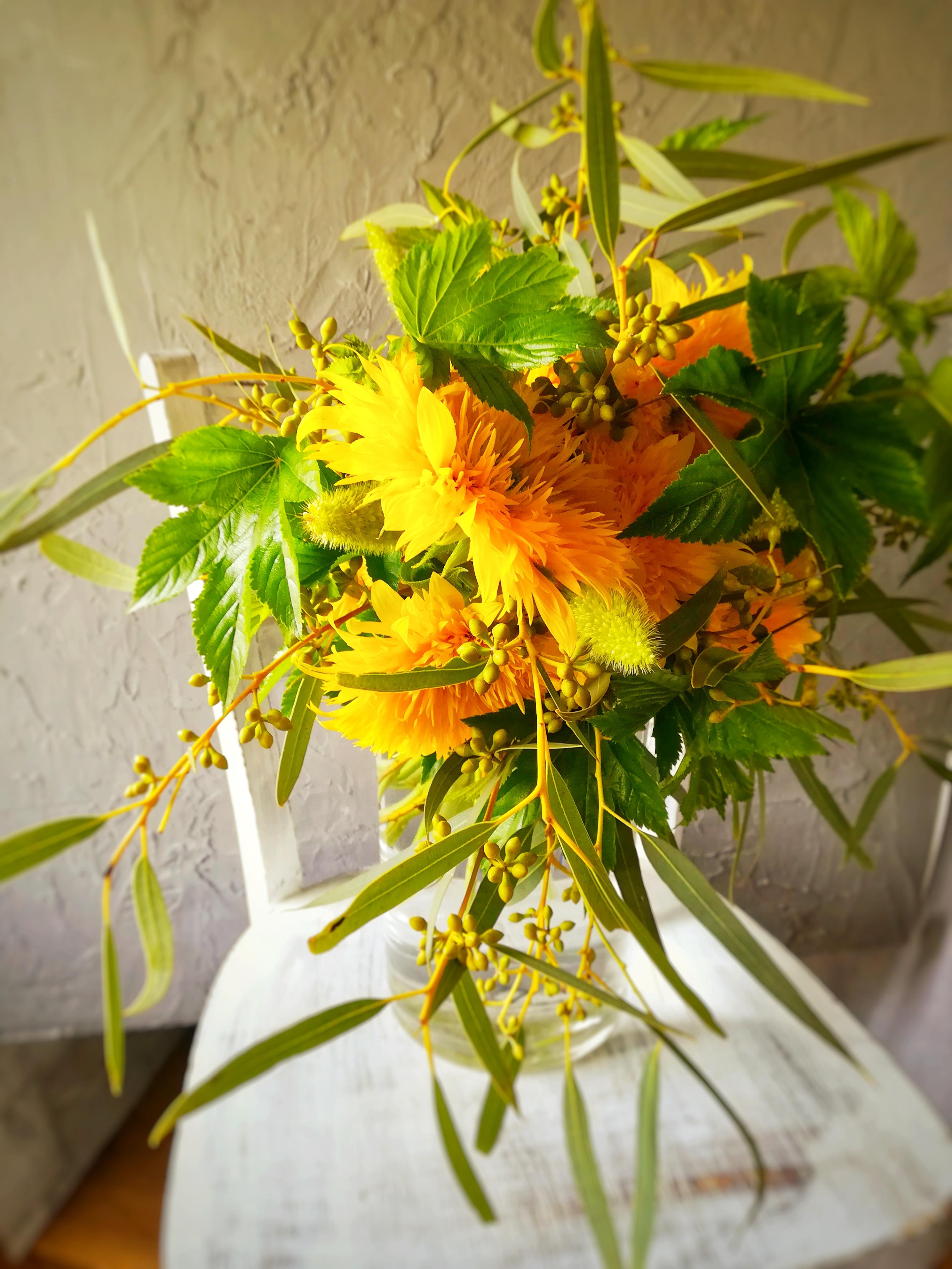 ヒマワリの花束 生花