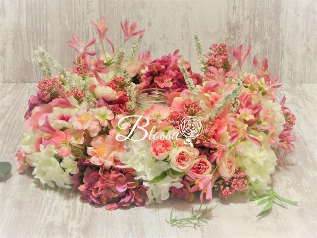 テーテーブルアレンジメント・アーティフシャルフラワー・造花