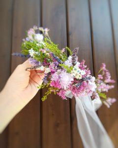 パリスタイル 花冠 プリザーブドフラワー ドライフラワー