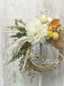 お正月飾り しめ縄 アーティフィシャルフラワー(造花)