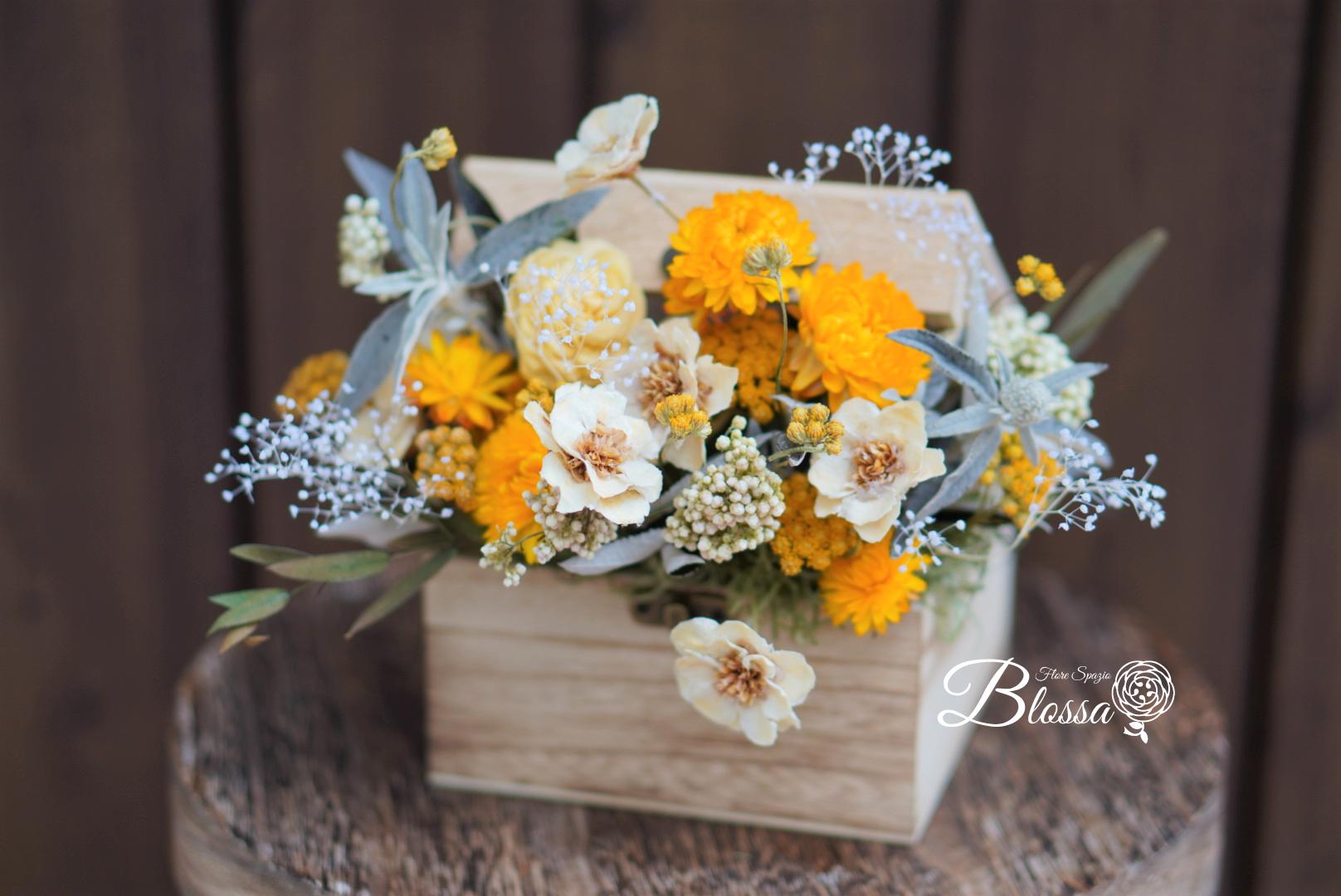 プリザーブドフラワー 春の小花のBOXアレンジメント