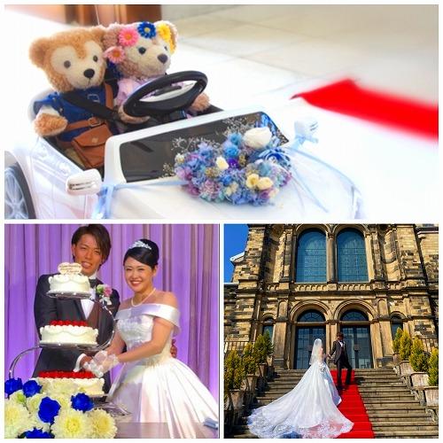 プリザーブドフラワー テーブルアレンジメント&リングピロー 花嫁様の笑顔