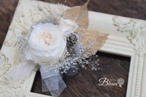 プリザーブドフラワー 手作りコサージュ ご自分用に・贈り物用に・花の日に 装着簡単マグネット式♪ご好評いただいてます♡