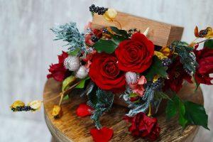 BOXアレンジ フラワーサンド♡お花の表情豊かなアレンジに♡アーティフシャルフラワー