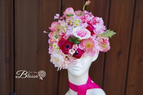 花嫁様の花帽子 ヘアドレス アーティフシャルフラワー・シルクフラワー・造花・