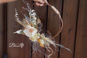 プリザーブドフラワー・リース・秋の収穫・ドアスワッグ