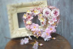 3月桜のリース作り・キッズ・生徒様作品