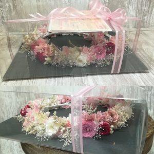 プリザーブドフラワーの花冠・オーダーメイド制作